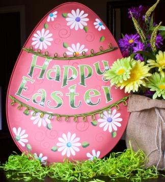 Large Pink Easter Egg