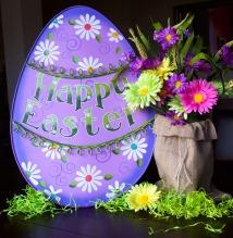 Large Purple Easter Egg